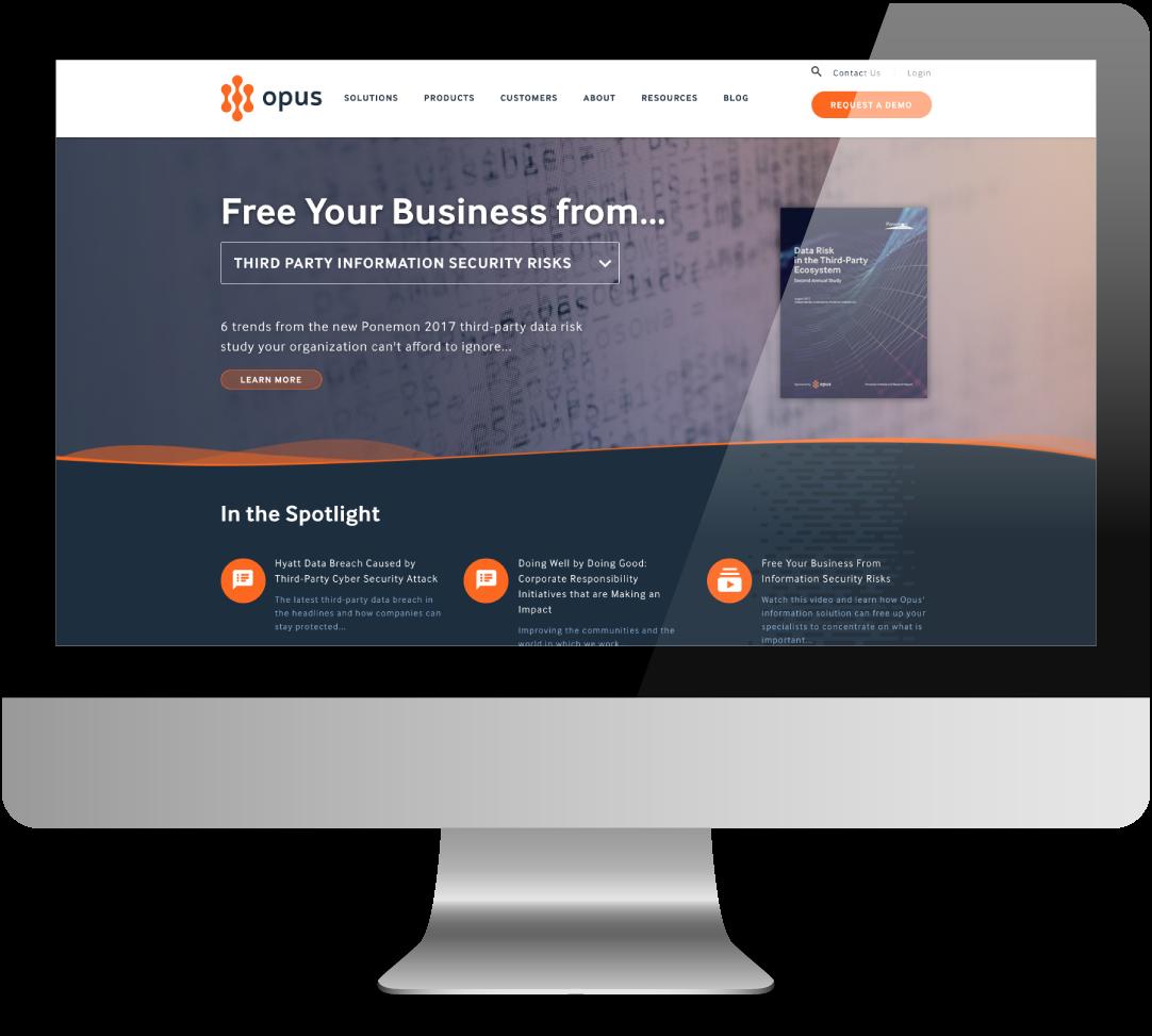 Opus Web Design Updates by Hot Sauce